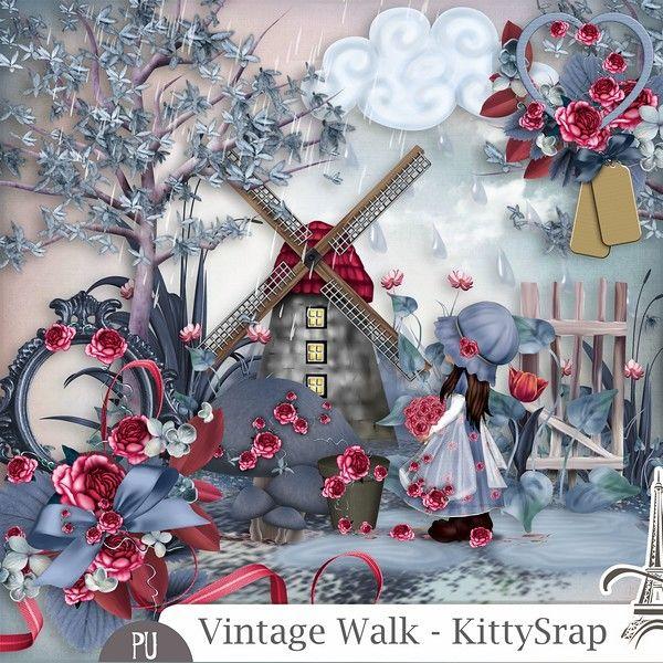 Le Blog de kittyscrap: ESSENTIEL : Vintage Walk