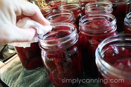 How to make home canned Pickled Beets Recipe. Step by step instructions with waterbath canning directions.