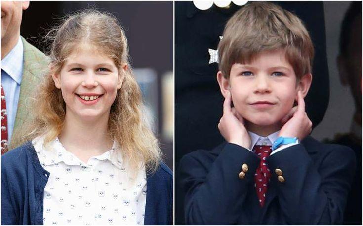 Queen Elizabeth II grandkids - Lady Louise Windsor and James, Viscount Severn