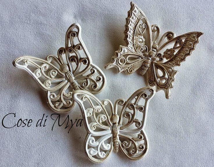 Farfalle in ceramica linea shabby