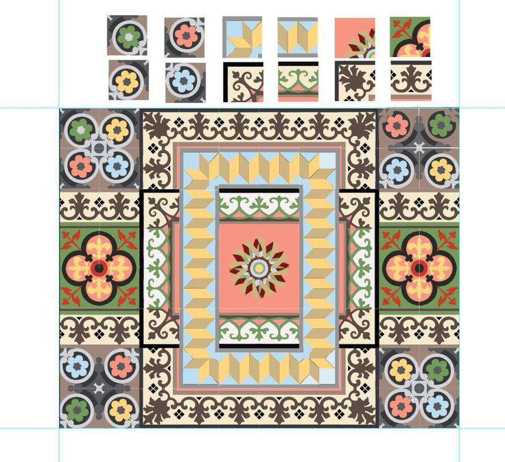 Unique cement tiles, handmade for special places and exquisite taste