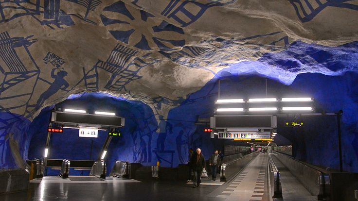 Most of us riding the subway pass through a filthy, drab, colorless world. But the underground stations of Stockholm, Sweden are an entirely different experience. Join us on a visit to the world's longest art gallery. Welcome to high art in the subterranean.