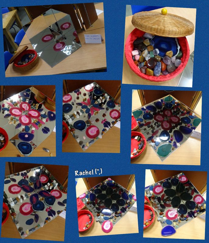 "Patterns on the Mirror Box with Rock Treasures from Rachel ("",)"