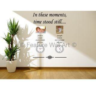In These Moments Time Stood Still - Wall Art #clock #wallstickers #decal #children #memories #featurewallart