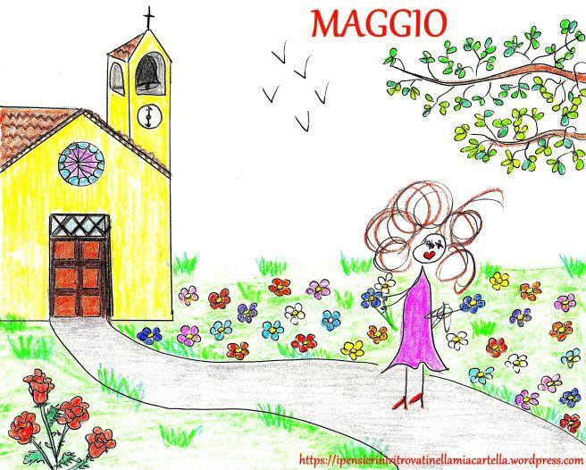 Maggio - poesia di Ambrosini - disegno di Susanna Albini