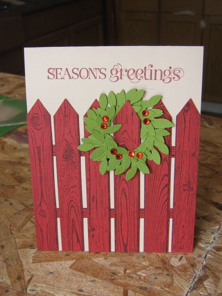 stampin up Hardwood, Cherry cobbler and bird punch