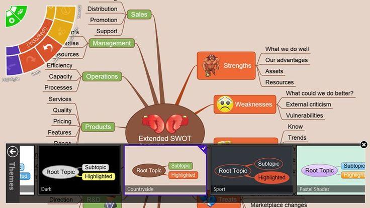 NovaMind MindMapping. Propracovaná aplikace k tvorbě myšlenkových map dotykem. Kupa ikonek, barev a možností úprav. Skvělá volba k testování využití myšmap na prvním stupni.