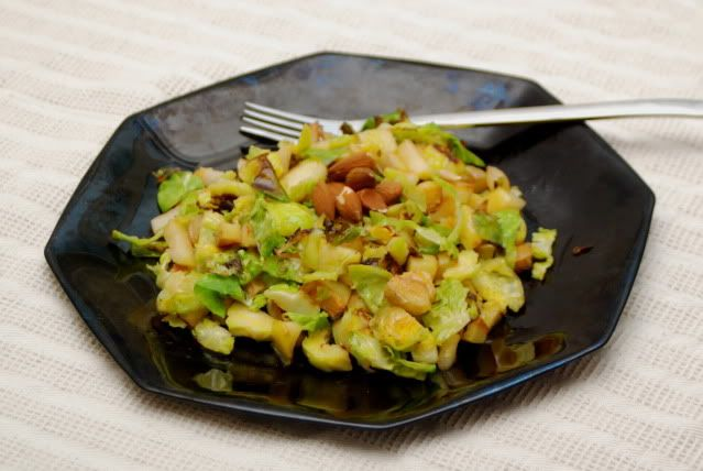 Brussel Sprouts Hash: Apple, Brussels Sprout