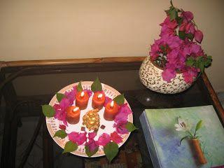 Diwali Decoration with Bougainvillea.