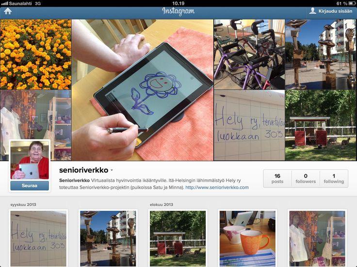 Instagramissa kuvia Senioriverkon arjesta.