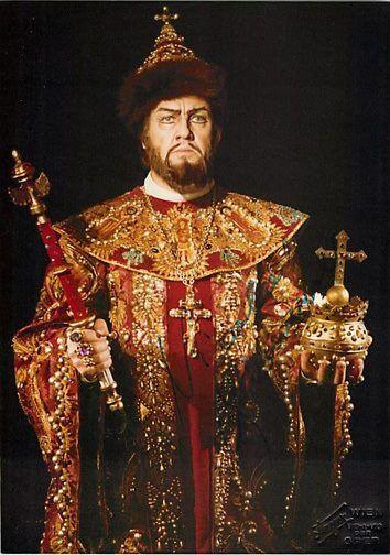 "Bulgarian singer Nicolai Ghiaurov in the role of ""Boris Godunov,"" opera by Modest Mussorgsky."