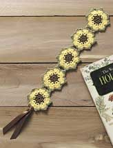 Sunflower Bookmark:  this item is crocheted, but I see a tatting possibility!  And I do love sunflowers!