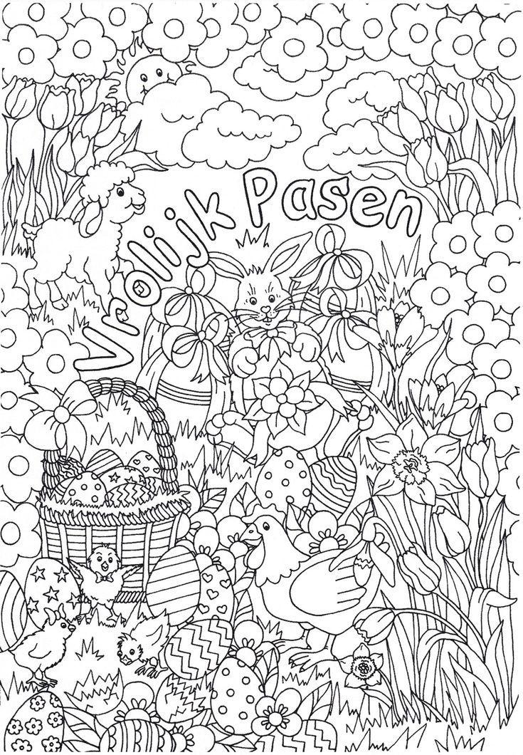 Kleurplaten Pasen En Lente.2 Prachtige Pasen Kleurplaten Van Suzanne Amels Kleurplaat