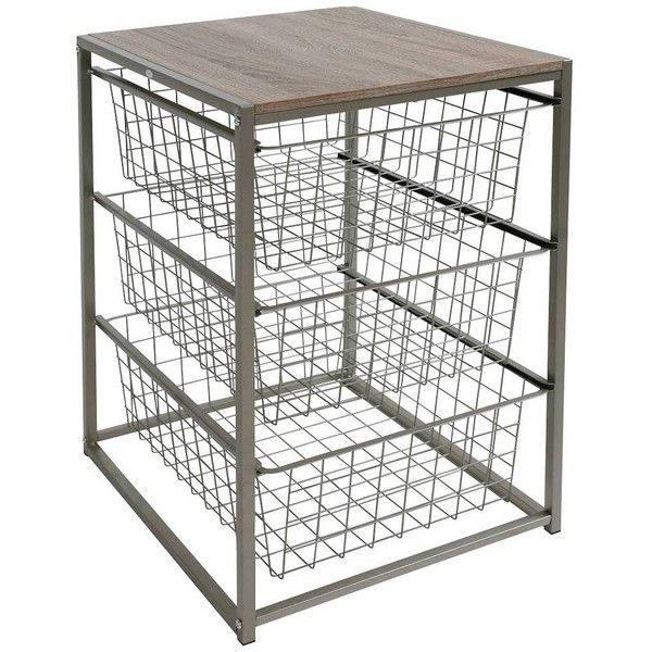 3 Drawer Closet Organizer - Grey Birch - Threshold : Target ❤ liked on Polyvore featuring home, home improvement and storage & organization