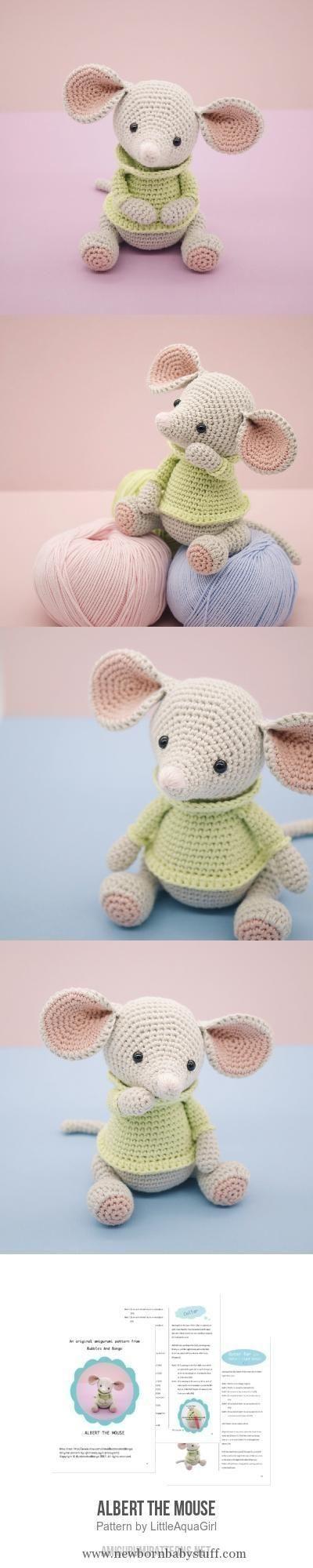 Baby Knitting Patterns Albert The Mouse Amigurumi Pattern...