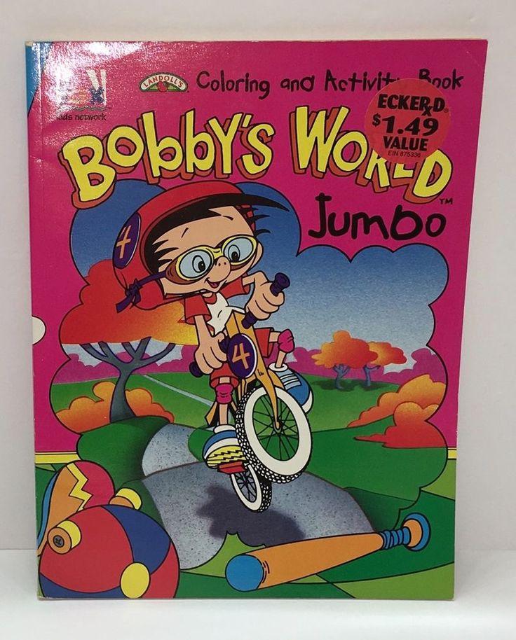 Vintage Bobbys World Coloring Book Eckerd Landolls 1994 Howie Mandel