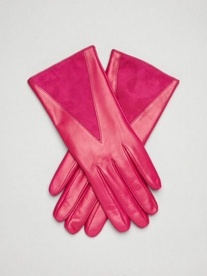 Leather & Suede Patch Gloves  |  @ gloves