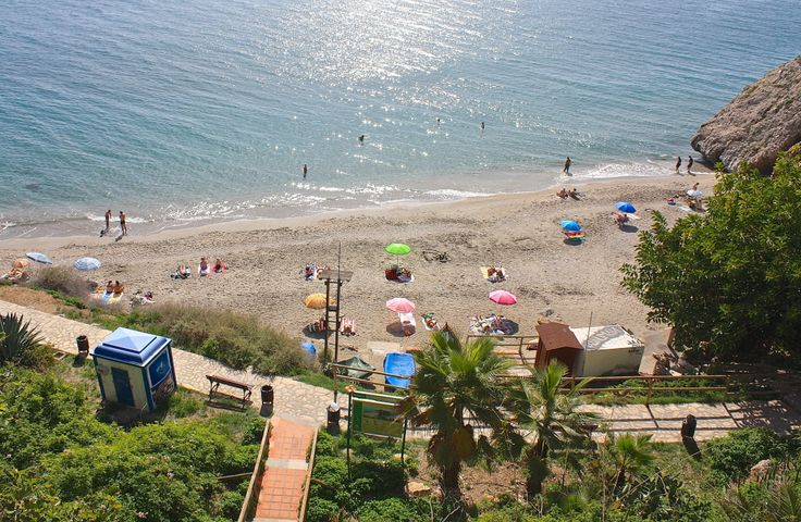 Playa Carabeo, Nerja, Spain