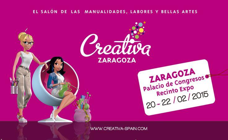 Nos vemos en Creativa Zaragoza del  20 al 22 de Febrero en el Palacio de Congresos Expo en Zaragoza, Aragón
