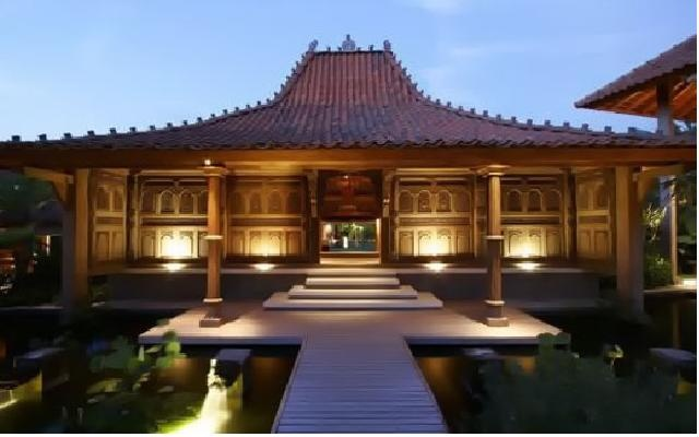 Rumah Joglo; Traditional Javanese House from Central java, Indonesia