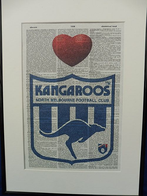 North Melbourne AFL Football Team Wall Art Print by DecorisDesigns