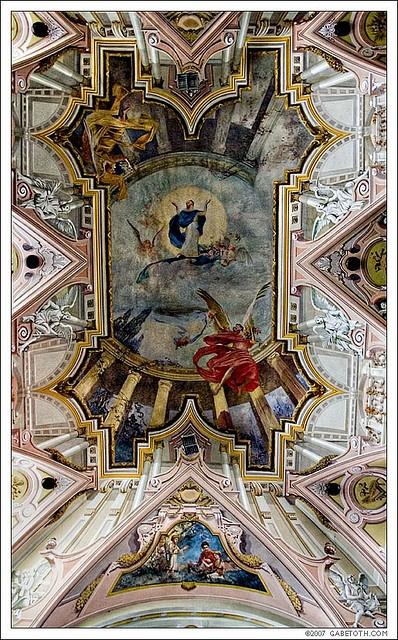 Interior of the Roman Catholic Church, built in 1778 in Samorin, Slovakia