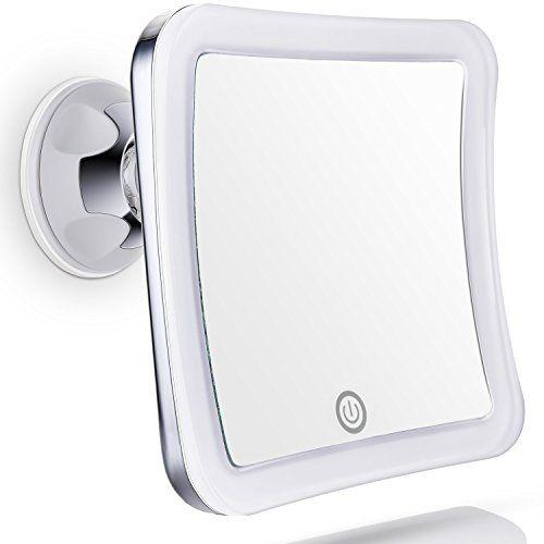 Sanheshun Kosmetikspiegel Beleuchtet Reise-Schminkspiegel mit 7-fach Vergr��erung, warmem LED-Licht