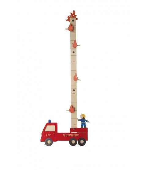 Olli Olbot 35269 Messlatte Feuerwehr Messen Kinder Wachstumsmesser Dekoration  - 2-flowerpower