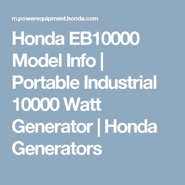 Honda EB10000 Model Info | Portable Industrial 10000 Watt Generator | Honda Generators