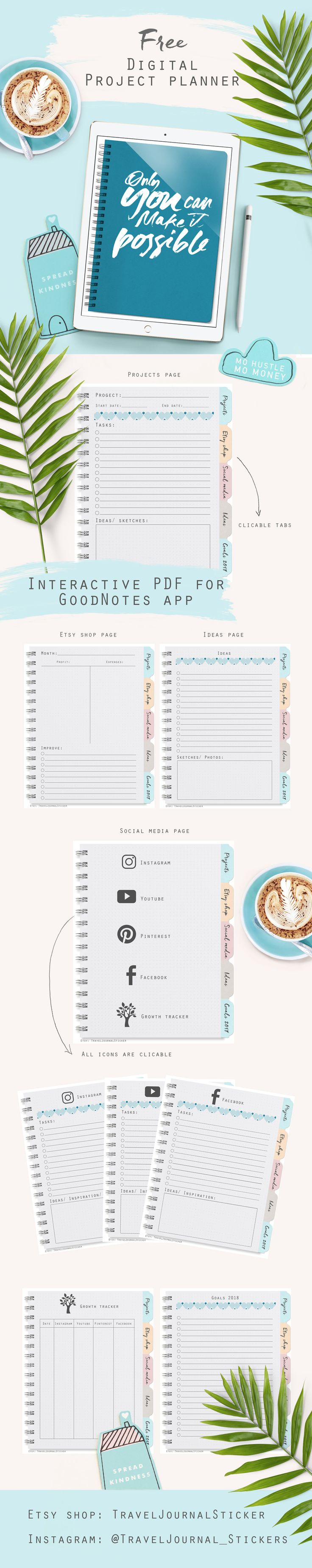 Free Printable Project Planner.  Link for downloading: https://www.dropbox.com/s/5dzs9xn3asfxh2g/Project%20planner.pdf?dl=0