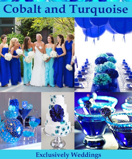 cobalt and turquoise