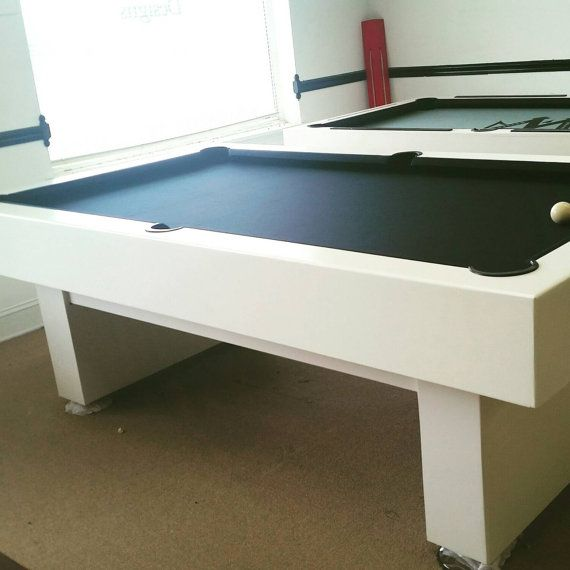 7ft Pool table with a black Onyx felt by McCorkleDesigns on Etsy