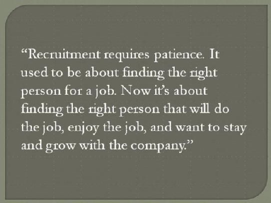 recruitment quotes / recruiting