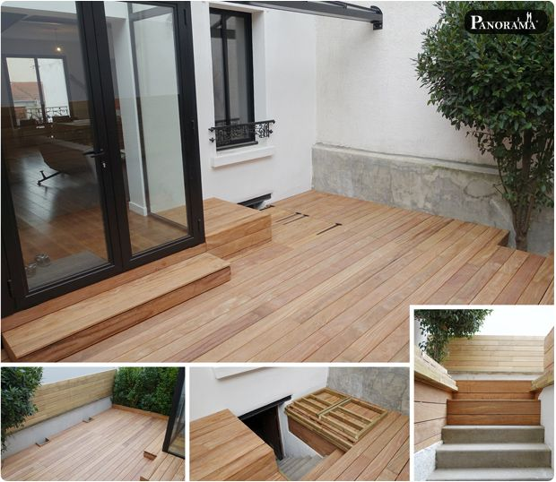 13 best Terrasse images on Pinterest Gardens, Decking and Landscaping - prix d une terrasse en bois