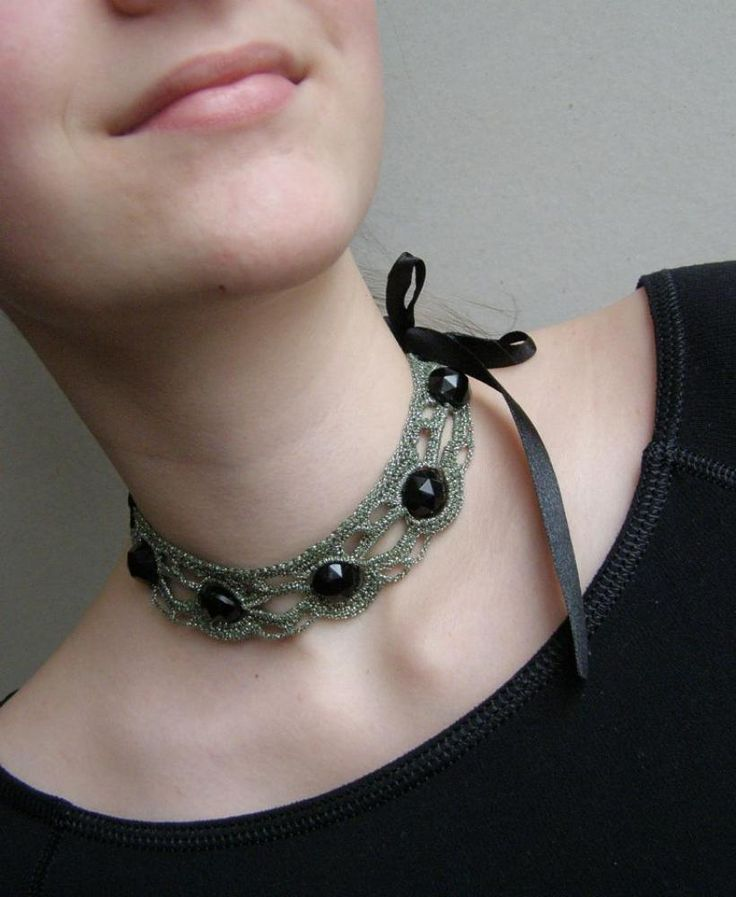 crochet choker necklace