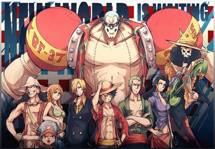 Usopp, Chopper, Nami, Sanji, Luffy, Zoro, Niko Robin, Brook, Franky/Cutty Flam