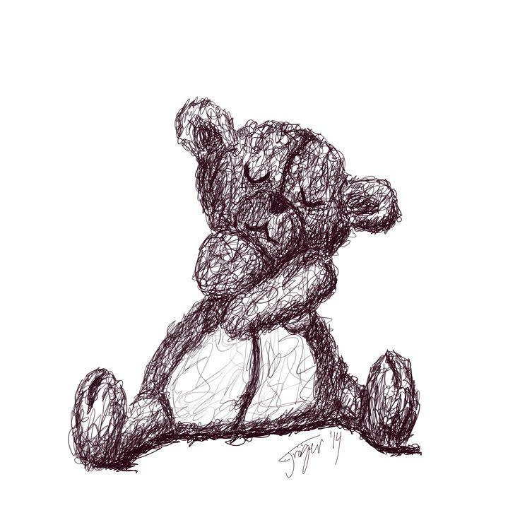 Cute bear giving a hug
