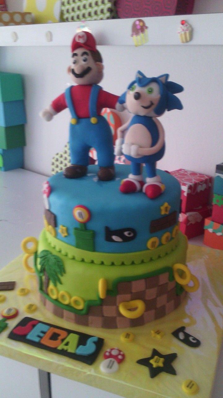 Torta Mario y sonic