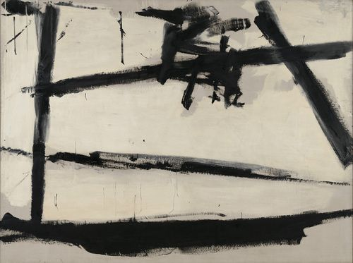 "Painting Number 2  Franz Kline (American, 1910–1962)    1954. Oil on canvas, 6' 8 1/2"" x 8' 11"" (204.3 x 271.8 cm)."