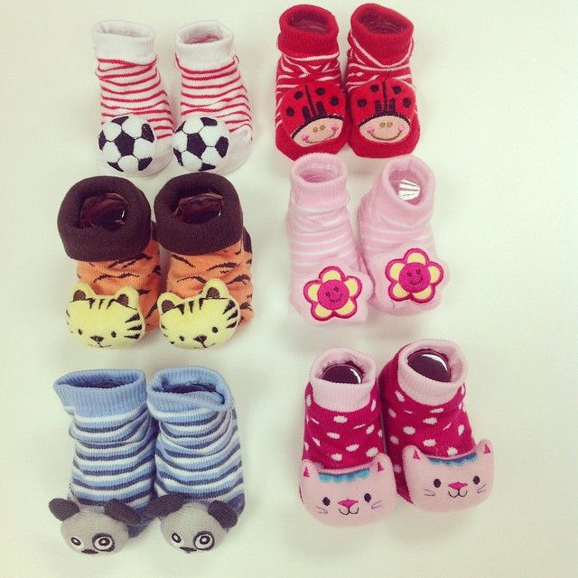 Adorable kids booties - they even rattle!