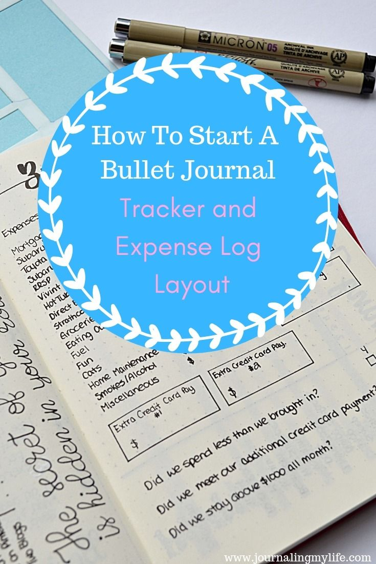 How To Start A Bullet Journal Tracker And Expense Log Layout Journaling My Life Bullet Journal How To Start A Bullet Journal Budget Bullet Journal Tracker How to create a tracker
