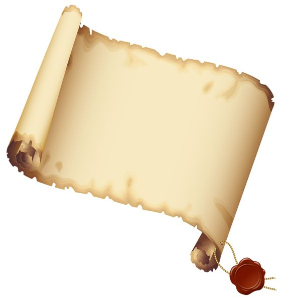 Ancient Scrolled Paper PNG Clipart Picture
