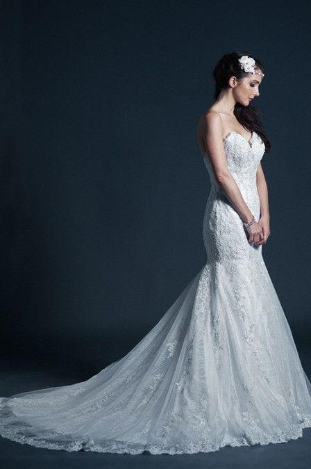 KCW1579 Strapless Lace Trumpet Wedding Dress by Kari Chang Eternal