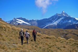 Hiking from #WhareKeaLodge in New Zealand