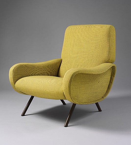 Lady Armchair, 1951 by Marco Zanuso (metal legs and upholstered foam rubber)