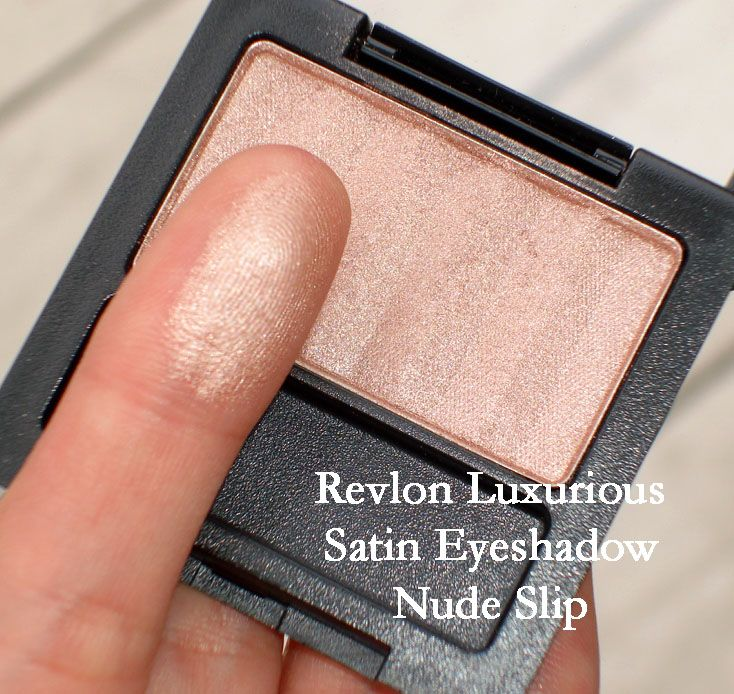 MAC All That Glitters dupe - REVLON Nude Slip {lasts all day - love this stuff!}