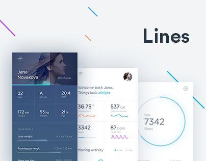 다음 @Behance 프로젝트 확인: \u201cLines activity tracker\u201d https://www.behance.net/gallery/40518179/Lines-activity-tracker