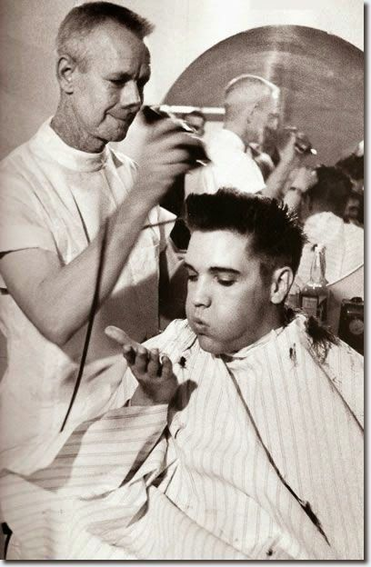 Elvis at the barbers.
