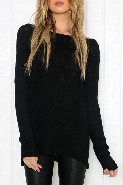 Best 25  Black long sleeve shirt ideas on Pinterest | Black long ...
