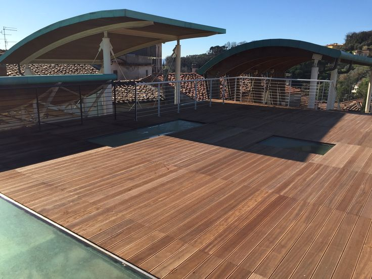 parte rivestita in decking